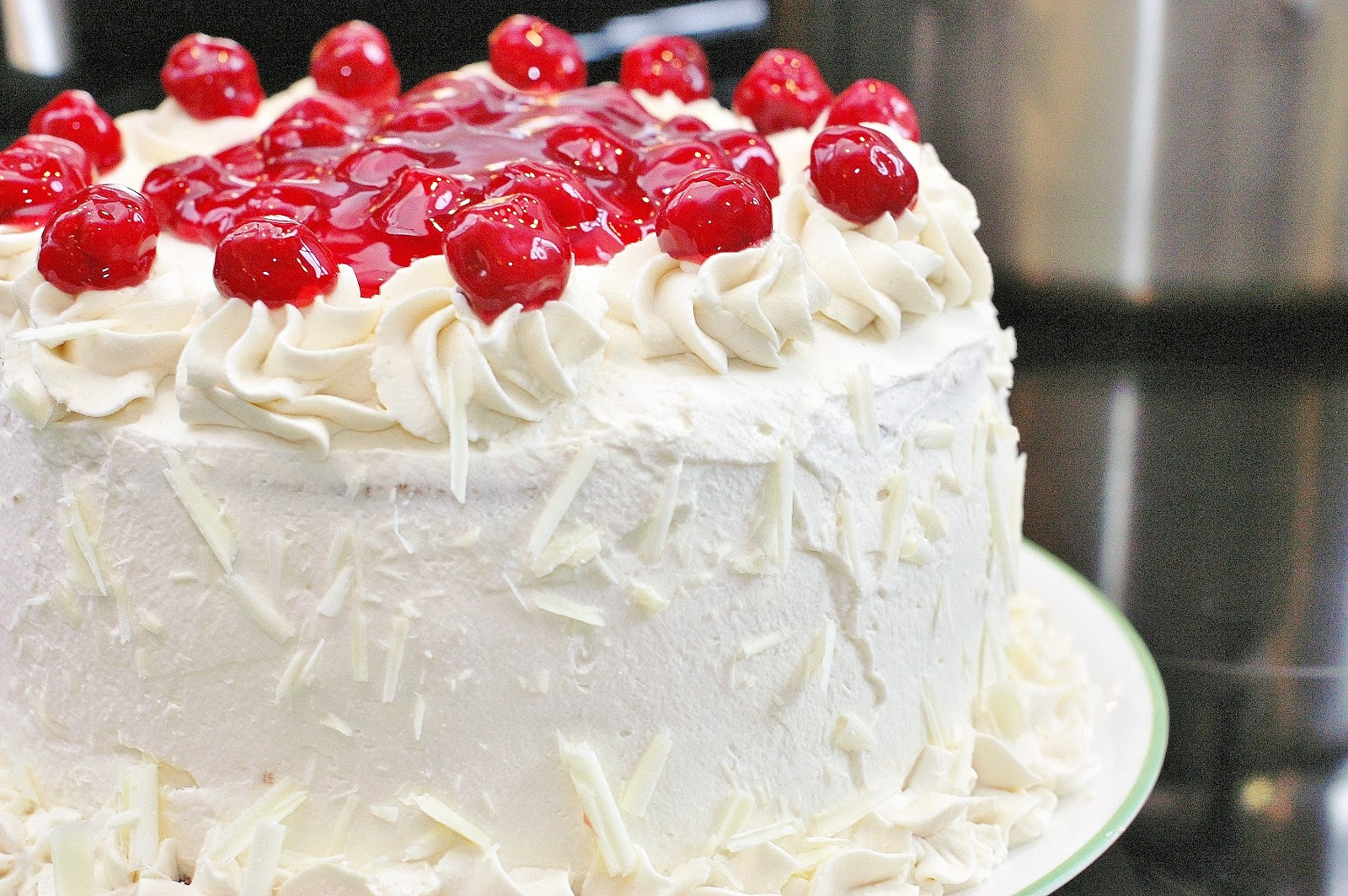 White forest cake وايت فوريست كيك