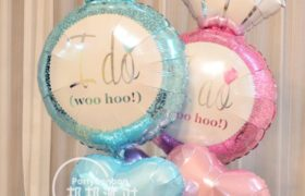 2 Wedding Ring Love Helium Balloons بالونين خاتم زواج قلب حب