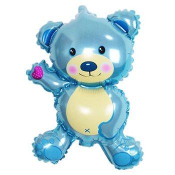 Baby Pink & Blue Bear Helium Balloon بالون دبدوب وردي وأزرق