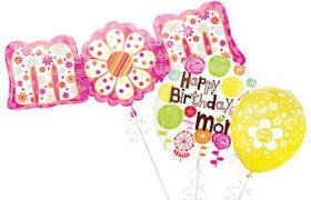 Mother's Birthday Balloons بالونات هيليوم لعيد الأم