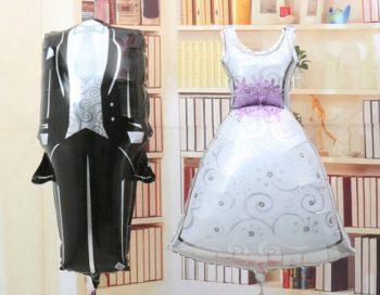Wedding Groom & Bride Helium Balloons بالونين حفل زفاف عريس وعروسة