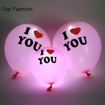 I Love You Helium LED Light Balloon بالون انا احبك مع ضوء ليد