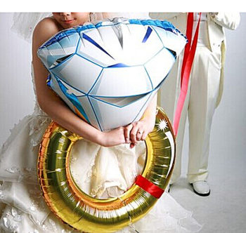 Wedding Ring Helium Balloon بالون خاتم زواج هيليوم