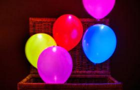Colored Helium LED Light Balloon بالون ملون مع ضوء ليد