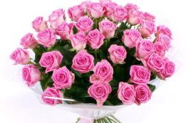 Grand Pink Roses Bouquet باقة جراند الورود الزهرية