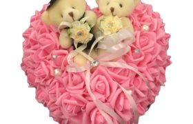Wedding Rings Pillow Teddy Bear وسادة دبدوب حامل خواتم زواج