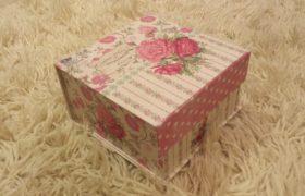 Rose Gift Box بوكس زهور وردي