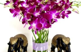 Pink Orchids Bouquet بوكيه بينك اوركيد