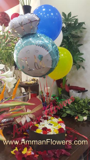 Patchi Flower Love Box بوكس قلب حب ورود مع شوكولا باتشي