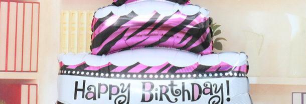 Happy Birthday Cake Balloon بالونات كيك عيد الميلاد