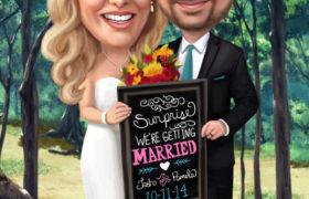 Wedding Cartoon رسم كاريكاتير
