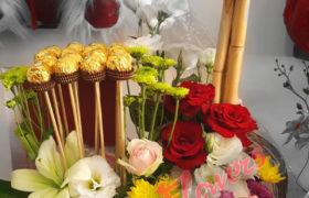 Ferrero Tower Flower Bouquet بوكيه ورود فريرو تاور