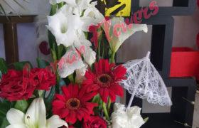 Love Tower Flower Bouquet بوكيه ورود لوف تاور