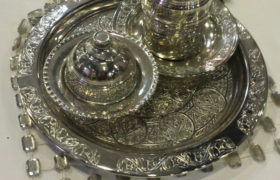 Fancy Silver Turkish Coffee Pot طقم دله قهوة فضه فاخر