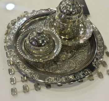 Fancy Silver Turkish Coffee Pot طقم دله قهوة فضه فاخر