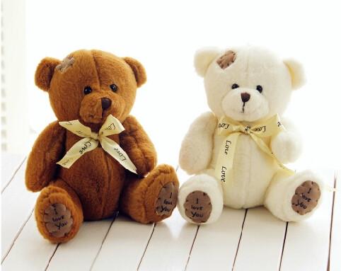 Love Teddy Bear White Brown دبدوب الحب أبيض أو بني