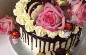 Flower Macaron Cake فلاور ماكرون كيك