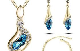 Blue Women's Necklace عقد نسائي أزرق
