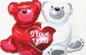 Big Teddy Bears Love Balloon بالون دباديب الحب الكبيرة
