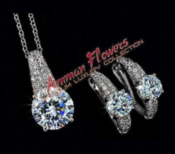 Zircon Women's Jewelry Set طقم اكسسوار نسائي زيركون