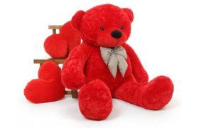 Red Giant Teddy Bear دبدوب الحب العملاق