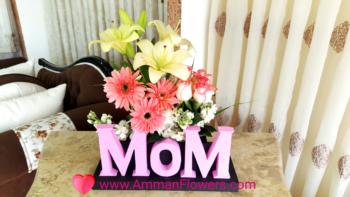 Mother's Day Bouquet MOM باقة ورود عيد الأم