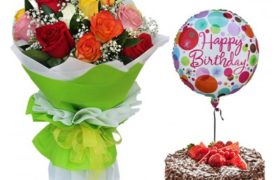 Birthday Package w Black Forest Cake مجموعة عيد ميلاد مع كيك بلاك فوريست
