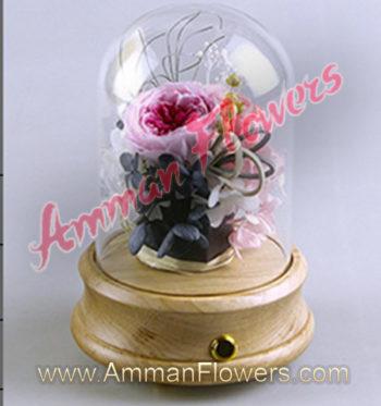 Immortal Flower w/Bluetooth Speaker الورده الاسطورية (لا تذبل) مع سماعة بلوتوث
