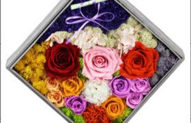 Colorful Immortal Flowers Box بوكس الورود الأسطورية الملونه