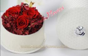 Red Immortal Roses w/Box ورود اسطورية حمراء مع بوكس (لا تذبل)