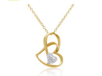 Double Love Necklace سنسال دبل لوف