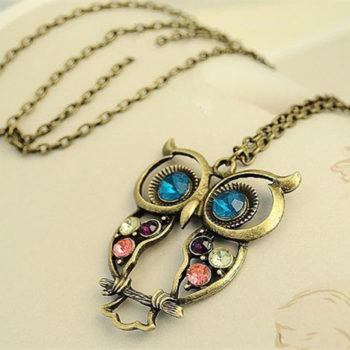 Vintage Owl Necklace سنسال البومة الكلاسيكي